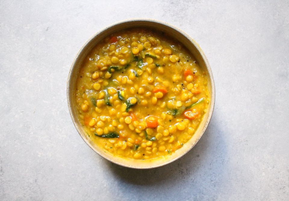 Chana Dal in white bowl